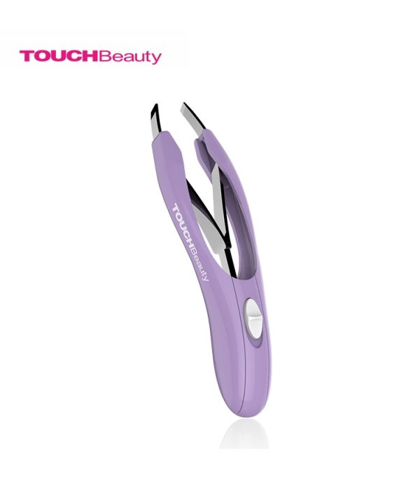 Pinza depilar con luz led automatica touch beauty