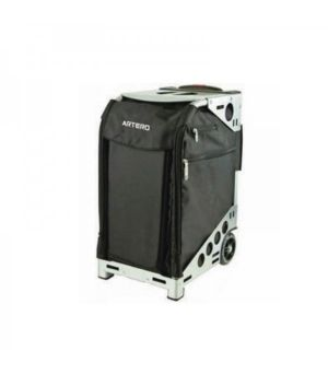 Taburete trolley + 2 neceser color negro
