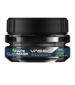 Mascarilla Facial Hombre. Mask Clay Mud. 250ml. Vasso